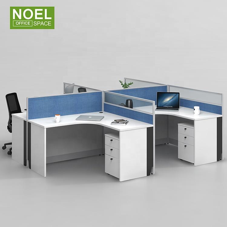 Модульная кабина 4 местный офисных Арм доска сотрудников бюро с делителем регулировочные ножки для мебели