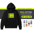 OEM Men Hoodie Sweatshirt 100% Cotton Long Sleeve Printed Oversize Pullover Hoodies