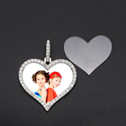 I YOU WIN Jewelry Hip Hop Fashion Alloy Rhinestone Frame Pendant for Necklace DIY Heart Charm Frame Photo Pendant