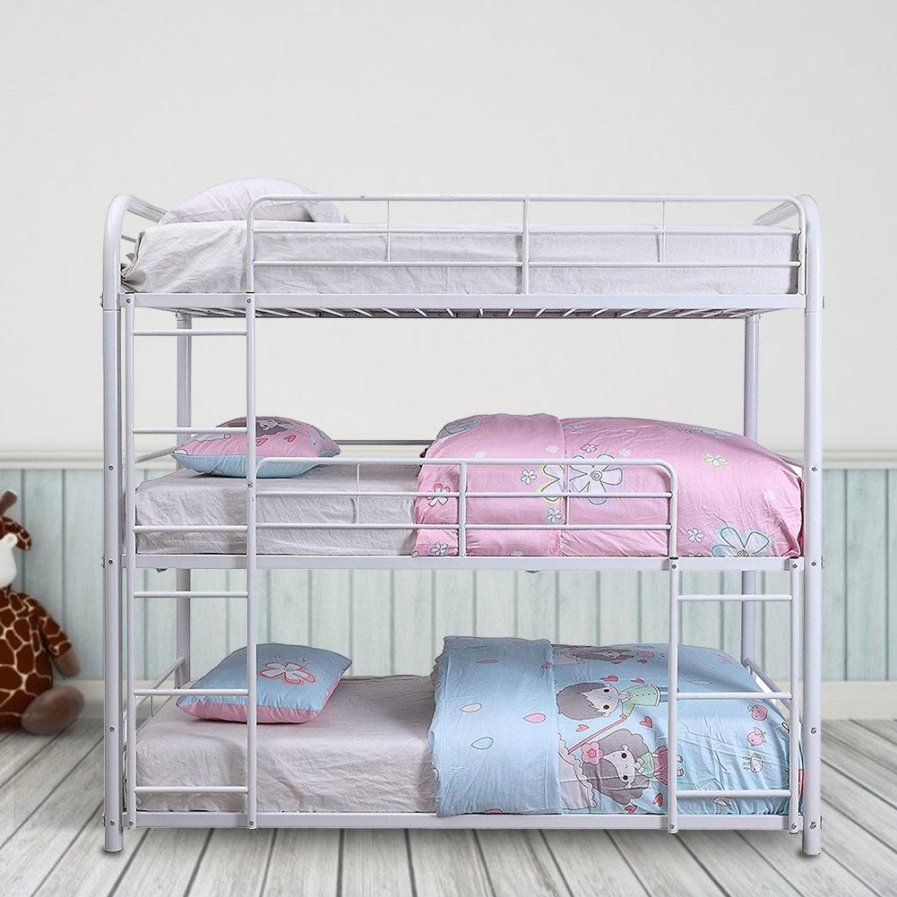 Steel Frame Metal Triple 3 Tier Bunk Bed For Sale Buy 3 Tier Bunk Bed 3 Tier Bed Steel Frame 3 Tier Metal Triple Bunk Beds Product On Alibaba Com