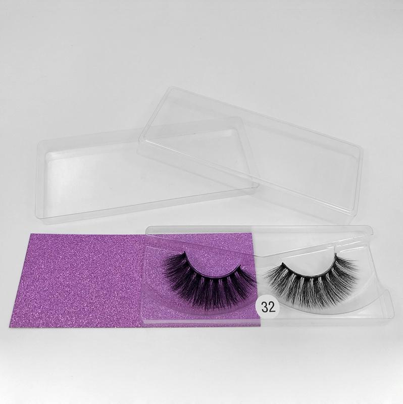 Wispy Lash Box Packing Regular Lash Strip Eyelashes Eye Lash False Eyelashes Custom Boxes Thick Crossed Cluster Faux Mink 0.07MM