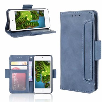 Multi Card Slot Cattle Stripe Leather Case For iPod touch 5