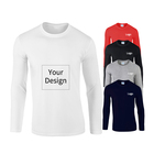 New Arrival Cotton Long Sleeve Shirt Custom Pure Color Print T shirt Woman And man Clothes