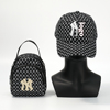 Black purse and hat