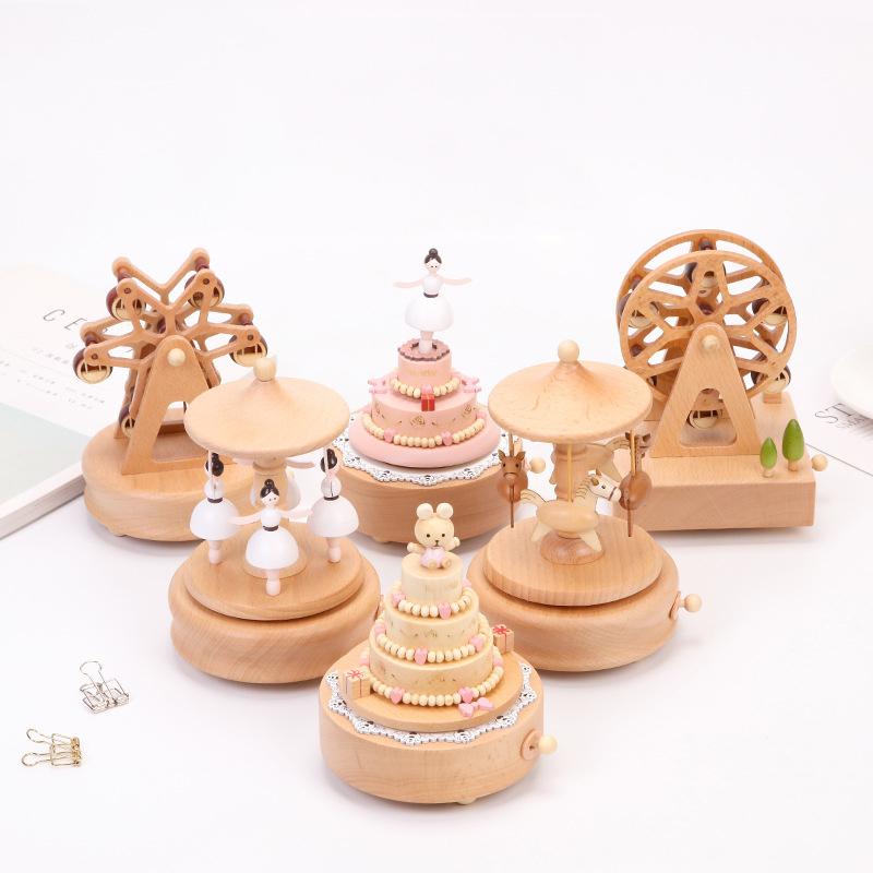 Замечательная Жизнь Рождественская Карусель лошадь деревянная музыкальная шкатулка механизм музыкальной шкатулки