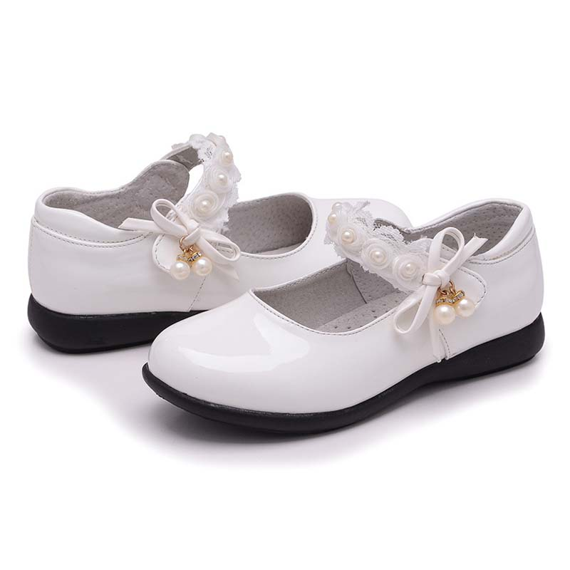 XS809 модные белые и черные кожаные туфли для учеников начальной школы оптом