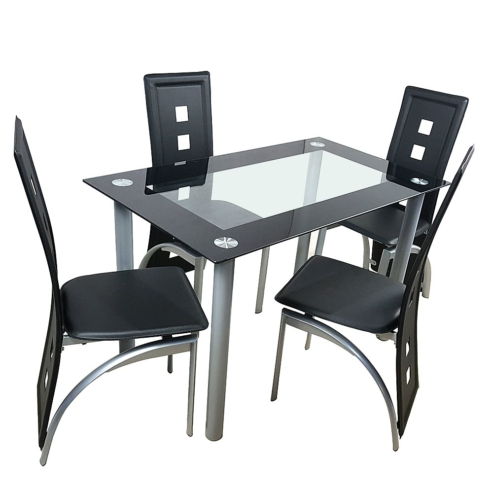 Dining Room Table Set,Glass Kitchen Table And Leather Chairs Kitchen  Furniture   Buy Dining Room Table Set,Glass Kitchen Table,Leather Chairs  Kitchen ...