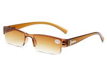 Модные очки для чтения, для мужчин и женщин, компьютерный ультра светильник, полуоправа, магнитные очки + 1,0 + 1,5 + 2,0 + 2,5 + 3,0 + 3,5 + 4,0 415(Китай)