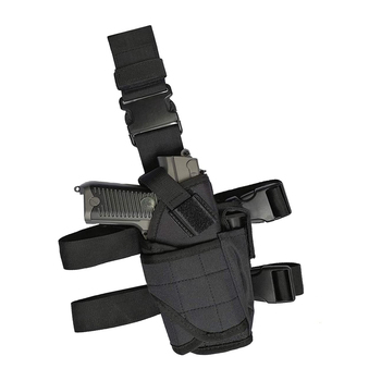 Black Tactical Drop Leg Holster Thigh Pistol Gun Holster