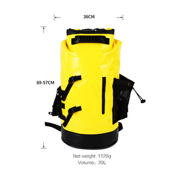 portable folding waterproof backpack for caving canyoning rock Mountaineering rescue