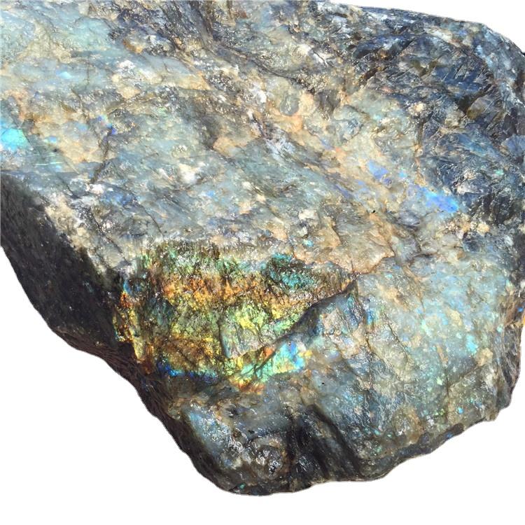 Оптовая продажа с завода, натуральный высококачественный недорогой кристаллический кварц, необработанный камень Лабрадорита для украшения