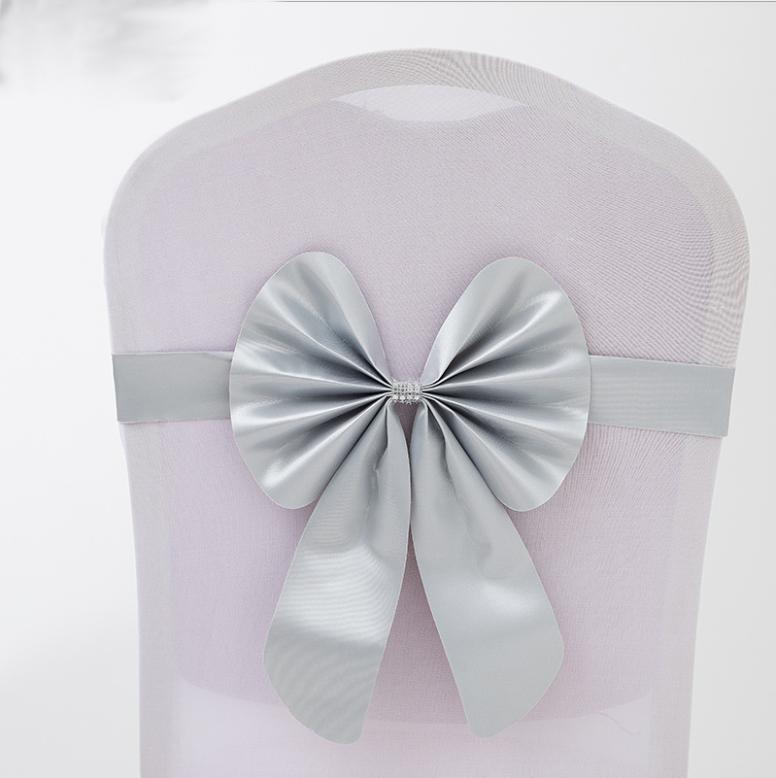 Оптовая продажа, дешевый эластичный чехол на стул из полиэстера/спандекса для вечеринки, свадьбы