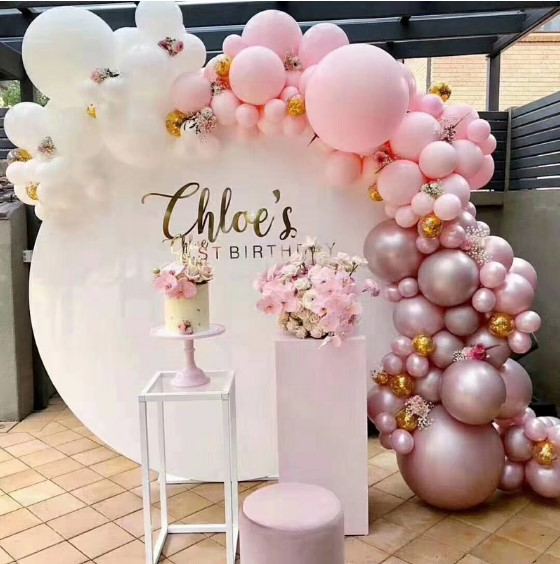 Wholesale Plinth Round Backdrop Wedding With Flowers Event Party Decoration Buy Product On Alibaba Com