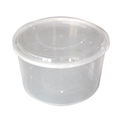 Frozen Food Container Food 625ml PP Disposable Frozen Food Lunch Box Big Bento Fruit Plastic Round Transparent Packaging Container