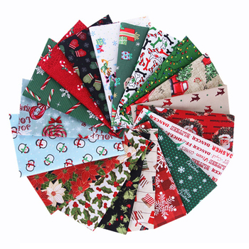 25*25Cm 5pcs Christmas Series Sewing Quilting Fabrics Patchwork Needlework DIY Handmade Material Cotton Fabric Printed Cloth