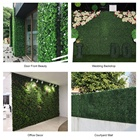 Green Garden Boxwood Hedge Wall Decorative Plastic Artificial Green Plant Boxwood Hedge Fence Mat Panel Vertical Garden Wall For Outdoor