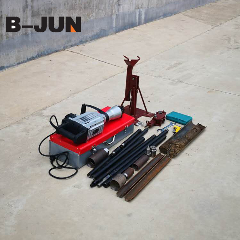 Gold mining drilling rig 10m soil and core sampling drilling rig core drill machine hand