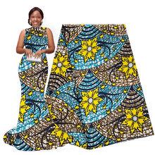 Африканские Восковые ткани 6 ярдов Нигерийский Африканский хлопок Принт Анкара высокое качество настоящий воск 2020 pagne africain Ankara wax015(Китай)