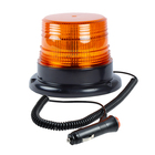 12W LED Emergency Beacon Flashing Amber Mini Revolving Warning Light 12V With Magnetic base