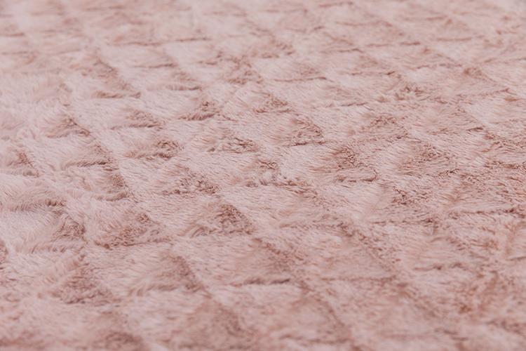Luxury microfiber pv plush double layer sofa polar fleece blanket