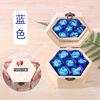 כחול צבע 6-נקודת עץ box_handbag