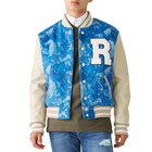 Unisex college school student baseball letterman custom chenille patchwork winter wool men's jacket