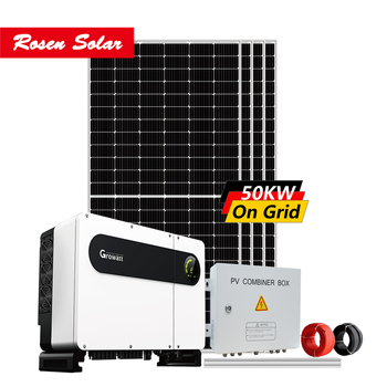 build your own on grid solar panel system 50kw grid tie complete solar system kit