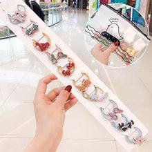 1 комплект, новинка, Детские эластичные резинки для волос с милыми мультяшными свежими фруктами и цветами, милые резиновые резинки со смайли...(Китай)