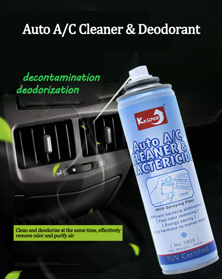 High Quality auto spray foam aerosol car air conditioner cleaner with Bactericide and Deodorant