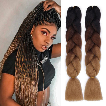 Wholesale In Weave Cheap Pre Stretch Jumbo Hair Crochet Braids Extensions For African Hair Synthetic Braiding Hair