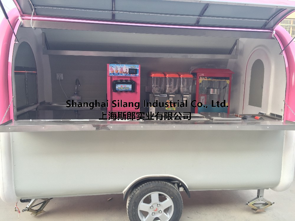 Silang camper trailer mobile food trailer soup dessert liqueur beer bitter wine spirit fruit doughnut Chips French fries snack