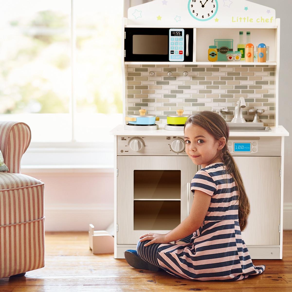 WEIFU Экологически чистая деревянная игрушка, ролевая игра, детский кухонный набор