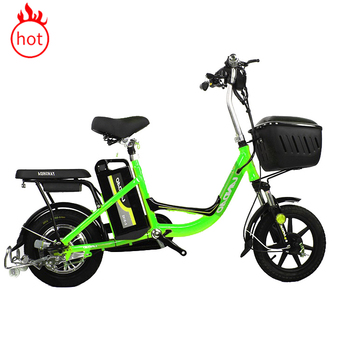 Electric 48v electric bicycle with factory price /350w 48v lithium battery scooter electric bike for family with pedals on woman