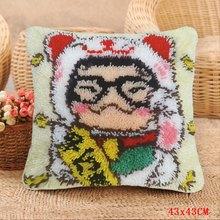 Китайская национальная Подушка с замком панды, вышитая подушка для ковра Foamiran, посылка с кнопками, набор крючков(Китай)