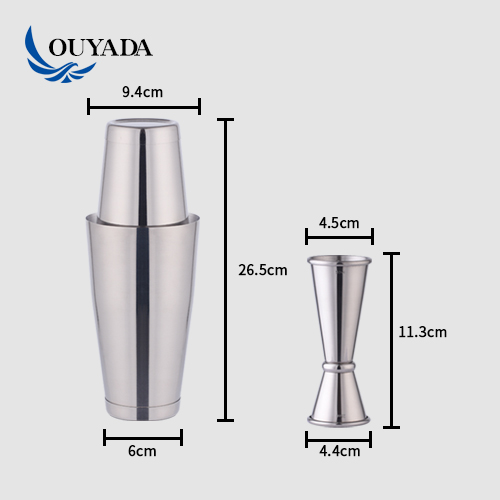 Factory Direct 13 pieces 28oz stainless steel bartender strainer cocktail shaker bar set ware accessory bar tools