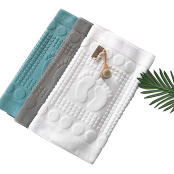 Washable Bathtub Shower Sink Floor 100% Cotton Bath Mat Towels