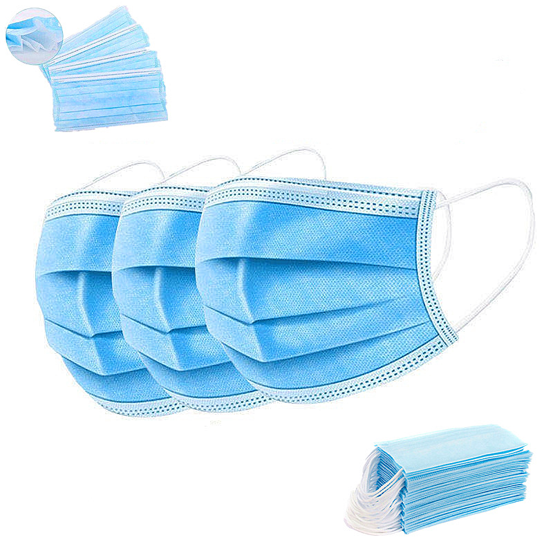 Personal Protective Wholesale Disposable Nonwoven 3ply GBT Civil Mask For Adult Size Blue Clr - KingCare   KingCare.net