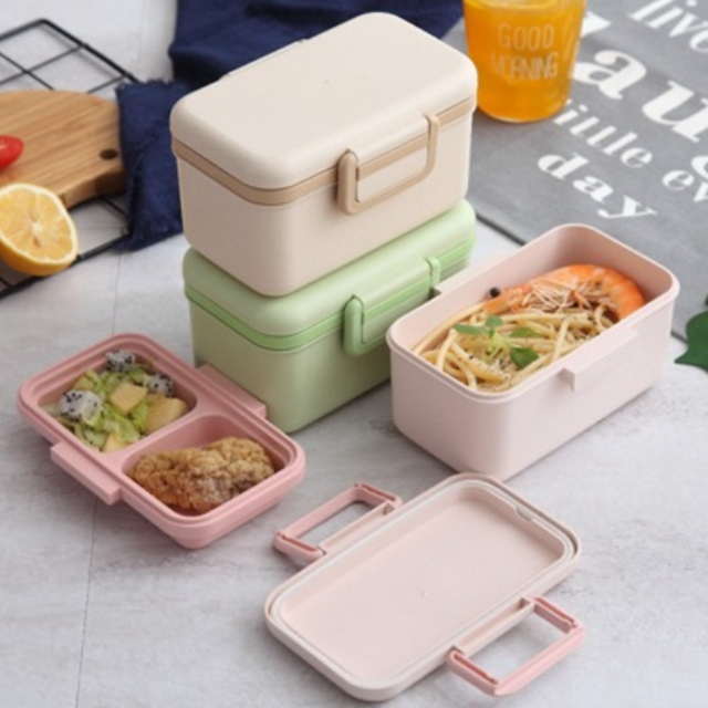 Eco Friendly Lunch Boxes Portable Food Storage Bamboo Sustainable Container