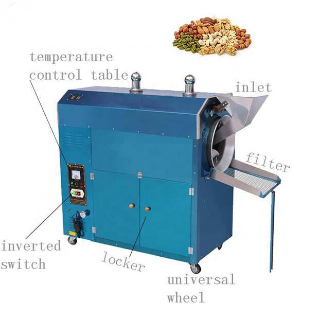 Electric automatic cashew nut processing machine / peanut roasting machine / coffee roaster