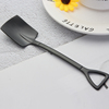 Black square spoon