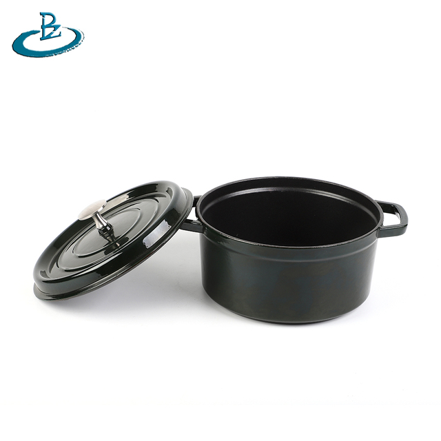 Enameled Cast Iron Balti Dish With Wide Loop Handles, Customized Design is Available
