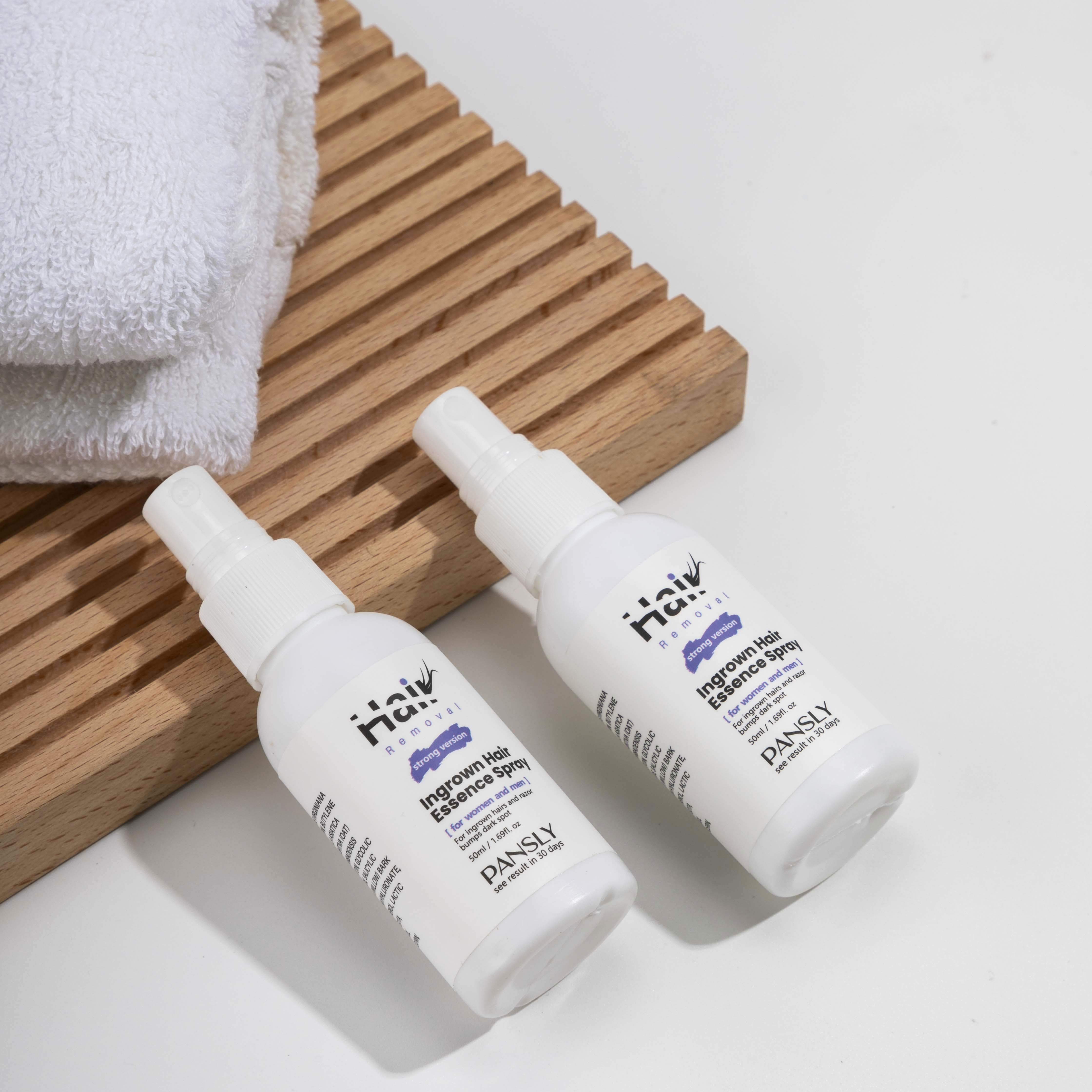Pansly Lavender All Natural Removal Skin Solution Roll On Treatment Razor Bump Stopper After Shave Ingrown Hair Serum