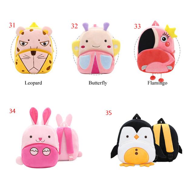 Плюшевый Школьный Рюкзак Для маленьких детей, дизайнерский ранец с мультипликационными животными для мальчиков и девочек