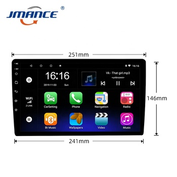 Touch Screen Universal Double Din Audio Stereo 10inch Android Radio Car Dvd Player