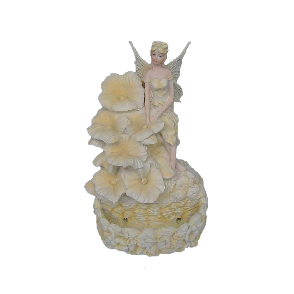 Resin Crafts Fairy Figurine indoor Tabletop water Fountain for home decoration
