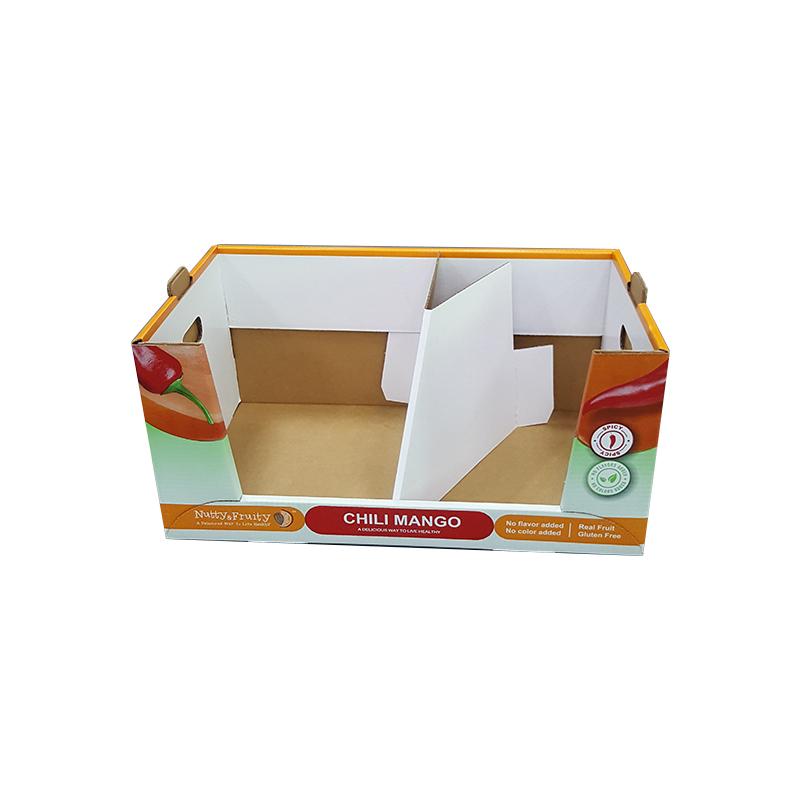 Складской супермаркет WM Pdq, гофрированный Штабелируемый ящик для хранения, контейнер для сбора деталей, большой Штабелируемый картон, многослойные ящики PDQ