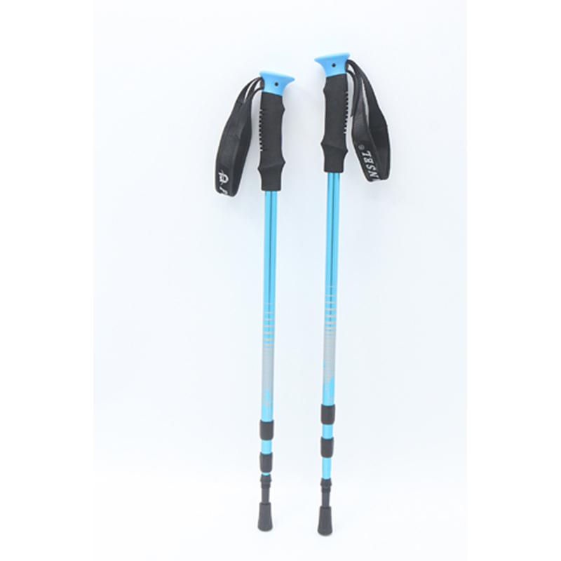 Portable Light Weight Telescopic Hiking Stick Anti-skid Walking Stick Anti-shock Trekking Pole 3 section Alpenstock For Hiking