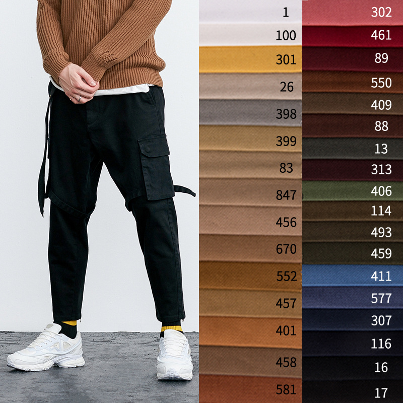 wholesale china suppliers 97% cotton 3% spandex plain dyed 2/1 twill cotton twill stretch chino fabric