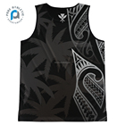 Custom Tank Top PURE New Cheap Custom Design Breathable Gym Hawaii Tank Top Sublimation Mens Gym Singlet For Sport