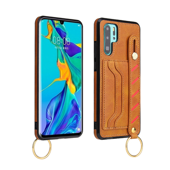 New Strap Stand Leather Phone Accessories Case For Huawei P20 P30 P40 Lite Pro 2020 Pu Leather Phone Back Cover Case